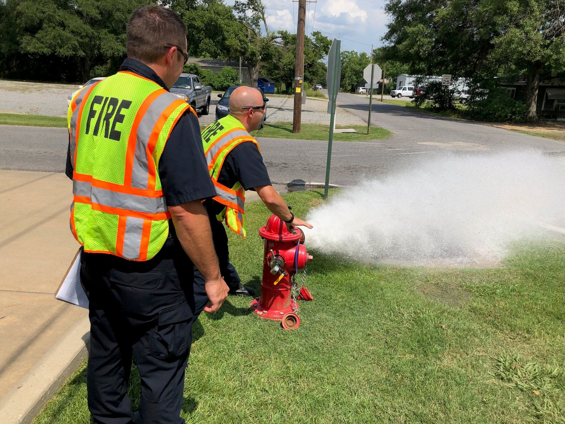 fire hydrant test